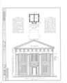 Old Knox County Courthouse, Main Street, Knoxville, Knox County, IL HABS ILL,48-KNOV,1- (sheet 1 of 9).png