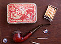 Old Pipe and Gentry tobacco-box from Hungary 1935.jpg