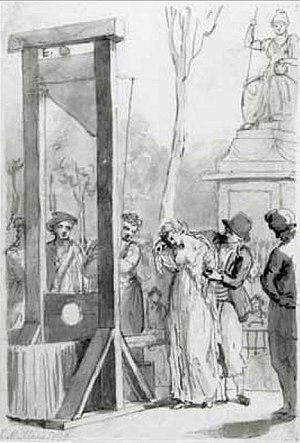 Olympe de Gouges - The execution of Olympe de Gouges