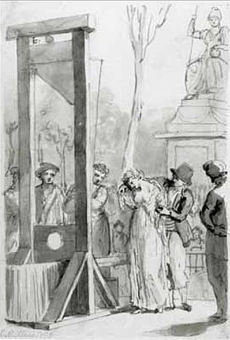 Reign of Terror - The execution of Olympe de Gouges, feminist writer close to the Girondins