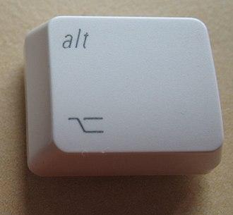 Apple Keyboard - An older version Option key