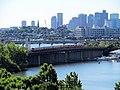 Orange Line train on Edward Dana Bridge.JPG