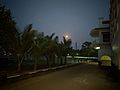 Orange moon rise in blue sky.jpg