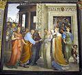 Oratorio superiore di s. bernardino, beccafumi, sposalizio della vergine, 1518, 03.jpg