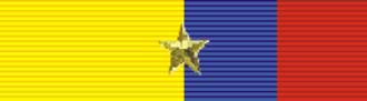 Harvey Overesch - Image: Order of Abdón Calderón 1st Class (Ecuador) ribbon bar