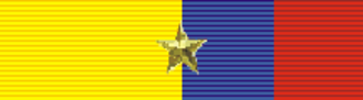 Edward Ellsberg - Image: Order of Abdón Calderón 1st Class (Ecuador) ribbon bar