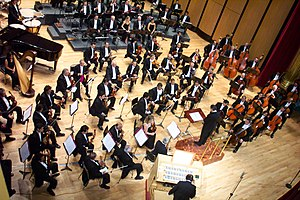 Musical ensemble - The Jalisco Philarmonic Orchestra is an example of a large classical musical ensemble.