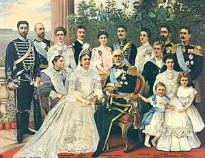 Swedish royal family - The Swedish Royal Family (including extended family members) in 1905.