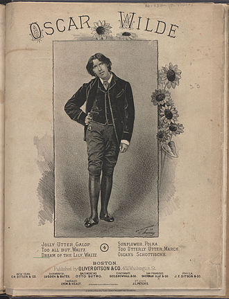 Oscar Wilde - Sheet music cover, 1880s