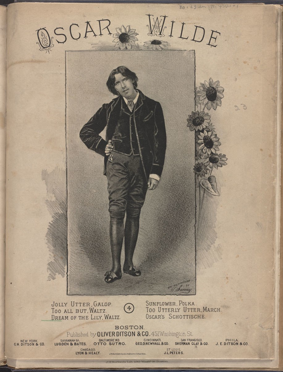 Oscar Wilde (Boston Public Library)