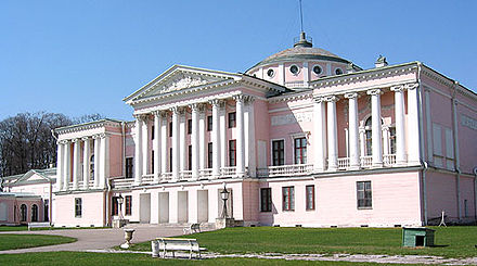 Ostankino Palace, designed by Francesco Camporesi and completed in 1798, in Moscow, Russia Ostdv5.jpg