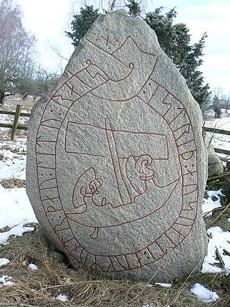 Östergötland Runic Inscription 224 - The south side of inscription Ög 224.