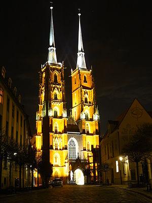 Ostrów Tumski, Wrocław - Image: Ostrów Tumski Katedra