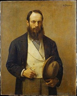 Otto Scholderer - Image: Otto Scholderer Selbstbildnis 1875 76