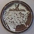 Our America Plate, Rockwell Kent and Vernon Kilns, 1938-1939, earthenware - Portland Museum of Art - Portland, Maine - DSC04115.jpg