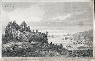 Oystermouth castle & Hoodles lighthouse, Swansea