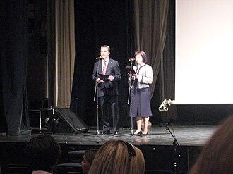 Katyń (film) - Speech before projection in Riga