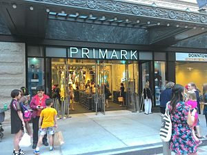 Primark - A store located in Boston, Massachusetts; the first in the United States which opened in 2015