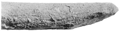 PSM V43 D682 Pointed cast showing the stone tool marks.jpg