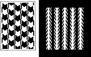 Patterns creating optical illusion