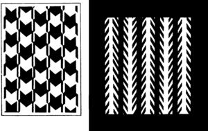 Patterns creating optical illusion