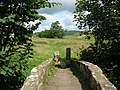 Packhorse bridge and squeeze stile - geograph.org.uk - 501896.jpg