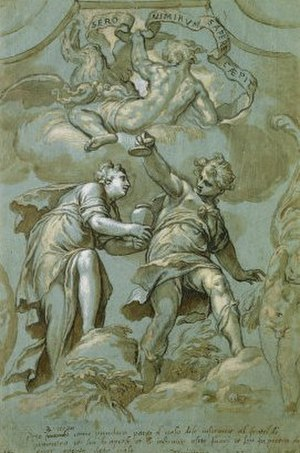 Epimetheus (mythology) - Pandora offers the jar to Epimetheus.