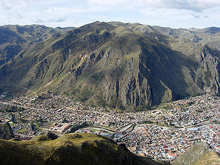 Huancavelica City in Peru