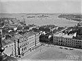 Panoraama Nikolainkirkon (= Tuomiokirkon) tornista kaakkoon. vas - N504 (hkm.HKMS000005-0000011b).jpg