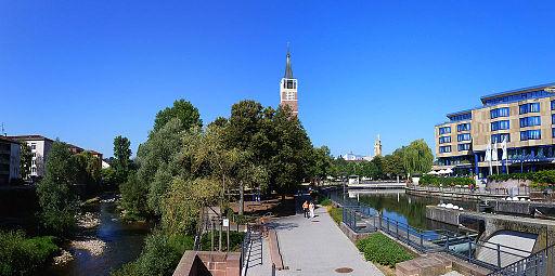 Panorama Nagold, Stadtkirche und Enz (1)