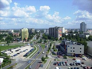 Tychy Place in Silesian Voivodeship, Poland