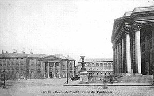 Place du Panthéon - Image: Pantheon Carte postale 1