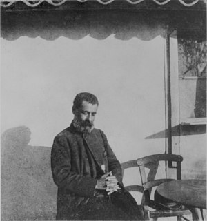 Greek writer Aleksandros Papadiamantis photogr...