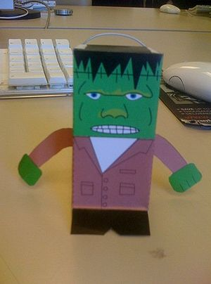 Paper toys - The finished Frankenstein
