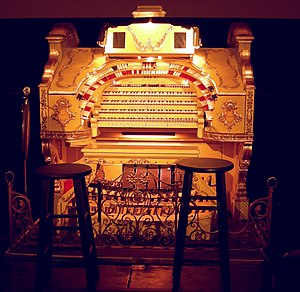 "American Theatre Organ Society - A Wurlitzer theater organ at the Paramount Northwest Theater, in Seattle, Washington. Wurlitzer theater organs are commonly referred to as a ""Mighty Wurlitzer""."