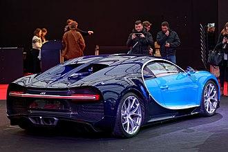 Bugatti Chiron - Rear 3/4 view