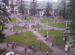Las Araucarias Park in downtown Santa Rosa de Cabal.