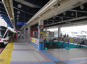 Pasar Seni station - The Pasar Seni LRT platform.