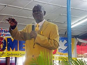 Elijah Abina - Pastor Elijah Abina during the GOFAMINT 2013 Convention at Ojoo Ibadan Oyo State, Nigeria