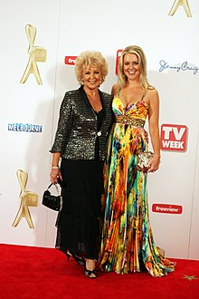 Patti and Lauren Newton at the 2011 Logie Awards.jpg