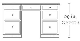 Pedestal desk - A pedestal desk