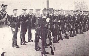 Beijing Legation Quarter - Austro-Hungarian marines at Beijing to protect the Legation Quarter, c. 1910
