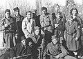 Peko Dapčević sa omladinskom delegacijim Druge proleterske brigade, 1942.jpg