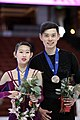 Peng Cheng and Jin Yang - 2019 Four Continents Championships - Awarding ceremony.jpg