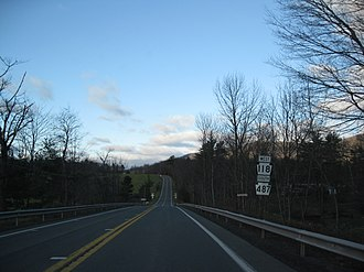 Pennsylvania Route 118 - PA 118 and PA 487 along the concurrency in Columbia and Luzerne Counties