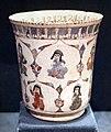 Periodo selgiuchide, bicchiere minai con principe seduto, kashan (iran) 1180-1220 ca.jpg