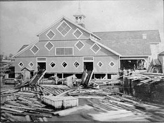 Ottawa River timber trade - Perley and Pattee's Sawmill, Chaudière Falls