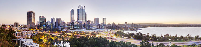 Perth CBD From Kings Park, Perth, Western Australia, Australia