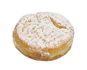 Jelly doughnut - Image: Peter Pan Bakery Donut Filled Raspberry Powdered