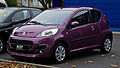 Peugeot 107 68 Envy (2. Facelift) – Frontansicht, 23. September 2012, Ratingen.jpg
